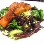 Seared Salmon Salad at Bailey's Omaha NE